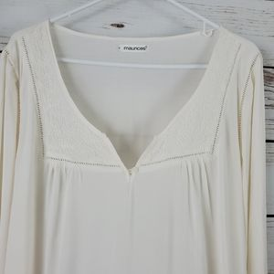 Maurices Tops - Maurices   Embroidered Long Sleeve Tunic Top